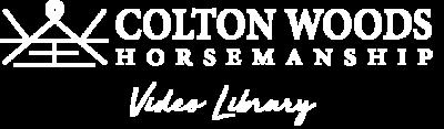 Colton Woods Horsemanship Video Library Logo